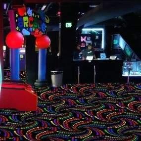Fiesta Black Light Glow In The Dark Carpet