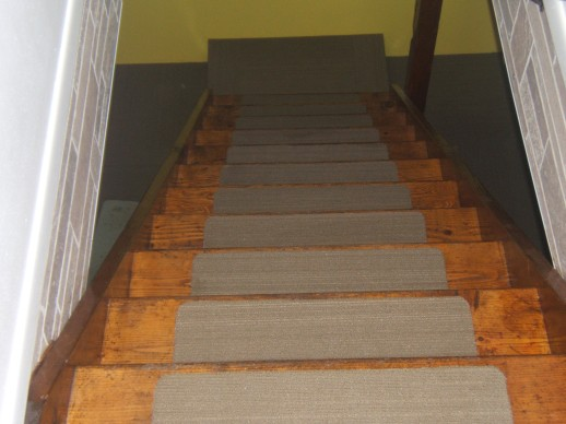 Carpet tiles stair treads